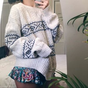 VtG  Travelers eclectic oversized chunky sweater
